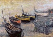 Лодки на берегу моря - Моне, Клод