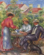 Чашка чая (В саду) - Ренуар, Пьер Огюст
