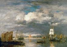 Порт в Камаре. Грозовые облака - Буден, Эжен