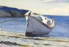 Лодка на берегу моря - Хоппер, Эдвард