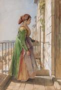 Греческая девушка на балконе - Льюис, Джон Фредерик