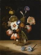 Цветы в стеклянной вазе - Брай, Дирк де