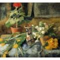 Натюрморт с геранью, 1882 - Энсор, Джеймс