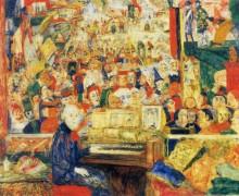Энсор в его мастерской, 1933 - Энсор, Джеймс