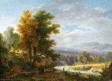 Пейзаж с дровосеком - Тёпфер, Вольфганг Адам