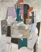 Натюрморт со скрипкой - Пикассо, Пабло
