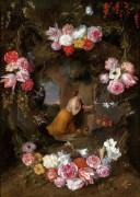 Святая Маргарита Кортонская в цветочной гирлянде - Брейгель, Ян (младший)