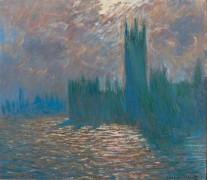 Здание Парламента в Лондоне, отражения на Темзе - Моне, Клод