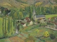 Церковная школа и мост в Лабастид-дю-Вер - Мартен, Анри Жан Гийом