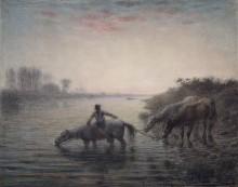 Лошади на водопое - Милле, Жан-Франсуа