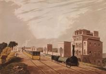 Вид на Манчестер и Ливерпуль с  железной дороги - Хевел, Роберт (младший)