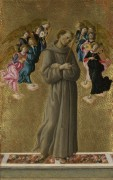 Святой Франциск Ассизский с ангелами - Боттичелли, Сандро