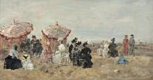 На пляже, 1894 - Буден, Эжен