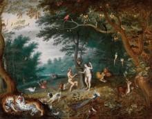 Эдемский сад с грехопадением - Брейгель, Ян (младший)