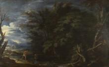 Пейзаж с Меркурием и нечестным лесником -  Роза, Сальватор