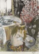 Обнаженная дама расчесывается, 1877-79 - Дега, Эдгар