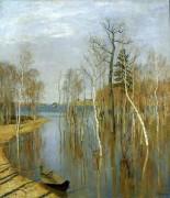 Весна. Большая вода - Левитан, Исаак Ильич