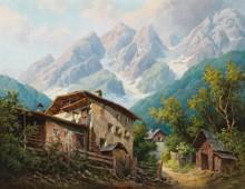 Деревня близ Ландека, Тироль - Флихер, Карл