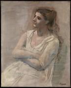 Женщина в белом - Пикассо, Пабло