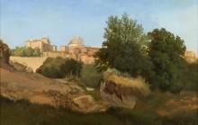 Пейзаж с видом на Ариччу - Палм, Густав Вильгельм