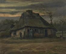 Соломенная хижина в сумерках (Straw Hut at Dusk), 1885 - Гог, Винсент ван