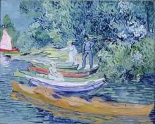 Гребные лодки на берегу Уазы (Rowing Boats on the Banks of the Oise), 1890 - Гог, Винсент ван