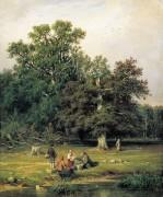 За грибами, 1870 - Шишкин, Иван Иванович