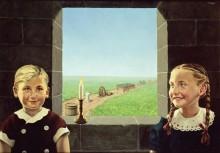 Портрет двух детей - Магритт, Рене