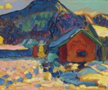 Зимний горный пейзаж - Кандинский, Василий Васильевич
