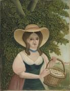 Женщина с корзиной цветов - Руссо, Анри