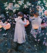 Гвоздика, лилия, лилия, роза (или Китайские фонарики) - Сарджент, Джон Сингер