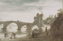 Мост через Луару в Амбуазе - Доомер, Ламберт Харменс