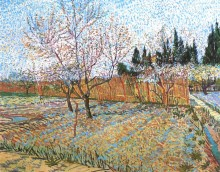Фруктовый сад с цветущими персиками (Orchard with Peach Trees in Blossom), 1888 - Гог, Винсент ван
