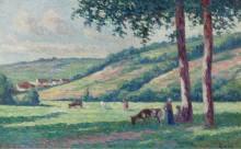 Пейзаж с пастухами и коровами - Люс, Максимильен
