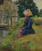 Мадам Жиломин на рыбалке, 1885 - Гийомен, Арманд