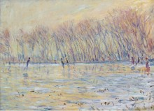 Фигуристы в Живерни, 1899 - Моне, Клод