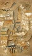 Натюрморт с яблоком - Пикассо, Пабло