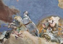 Аполлон сопровождает Беатрис Бургундскую в качестве невесты императору Фридриху Барбароссе, деталь - Карета Аполлона - Тьеполо, Джованни Баттиста