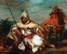 Марокканский воин - Делакруа, Эжен
