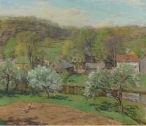 Деревня поздней весной (The Village in Late Spring), 1920 - Меткалф, Уиллард Лерой