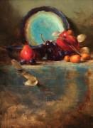 Бирюзовая тарелка - Ридель, Давид