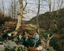 В начале Венского леса -  Вальдмюллер ,Фердинанд Георг
