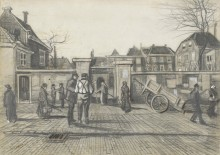 Entrance to the Pawn Bank, The Hague, 1882 - Гог, Винсент ван