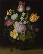 Цветы в стеклянной вазе - Босхарт, Амброзиус (Старший)