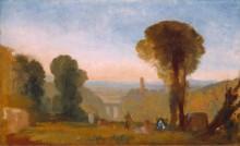 Итальянский пейзаж с мостом и башней - Тернер, Джозеф Мэллорд Уильям