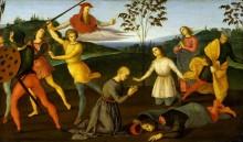 Святой Иероним спасает апостола Силуана и наказывает еретика Сабиниана - Рафаэль, Санти