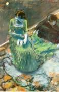 Перед занавесом,1892 - Дега, Эдгар