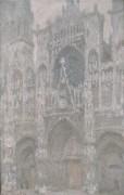 Руанский собор, ворота, пасмурный день, 1892-1894 - Моне, Клод