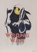 Война - ошибка (Жнец) - Бэнкси