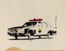 Полицейская машина - Бэнкси